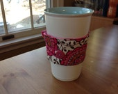 Hot Pink Reversible Coffee Cozy