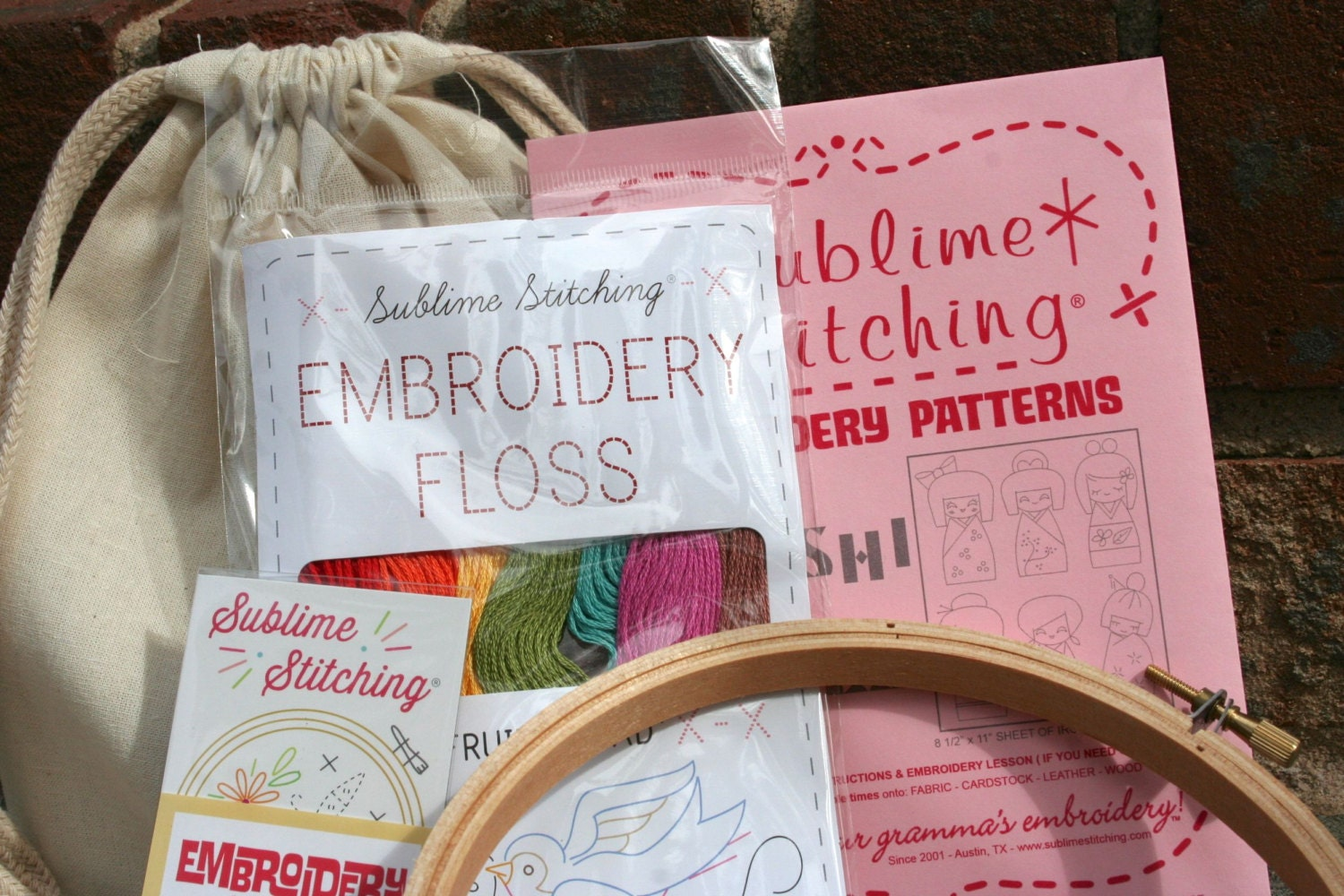 Embroidery Kit  Modern Hand Embroidery Kit Featuring Sublime Stitching  Embroidery Patterns And Floss  Your