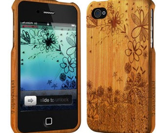 Flowers - Wood iPhone 5/5s Case, Bamboo iPhone 5/5s case, iPhone 5 Case