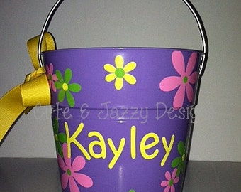 CLEARANCE-Personalized 2qt Tin Bucket