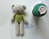SALE-Amigurumi  teddy bear, crochet teddy bear, baby softie-green-yellow-purple-light green