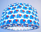 Lampshade, Pendant light, retro elephants, a very nice lamp