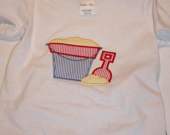 Sand Pail Applique T shirt