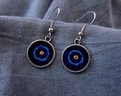 Blue Shield Design Earrin...