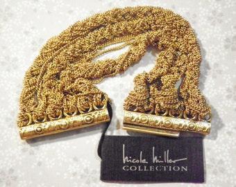 "1 Nicole Miller 7"" Goldplated Chain Bracelet"