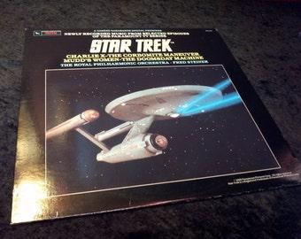 Vintage Star Trek Vinyl Record Album 1985 TOS Sci-fi Leonard Nimoy Doomsday Corbomite Charlie