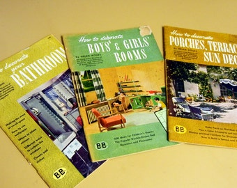 Vintage 1940s Interior Decorating how-to booklets