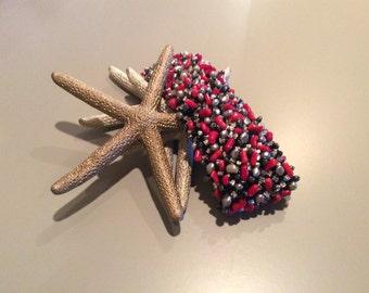 Handmade Beaded Cuff Bracelet