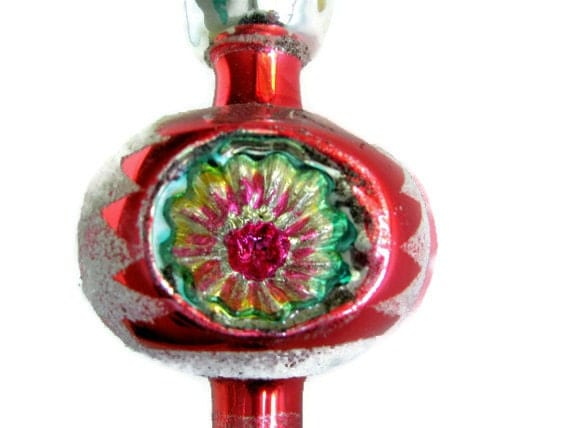 S christmas tree topper blown glass vintage by