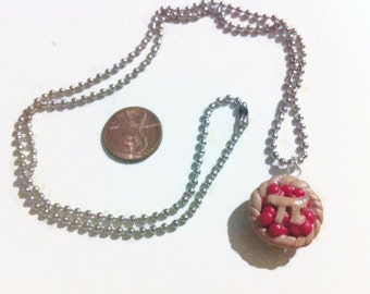 Pi Pie Necklace, Geekery, Pi Day, Math Charms, Pie Charms, Polymer Clay Charms, Gag Gifts, Stocking Stuffers, Teacher Gifts, Kawaii jewelry