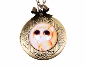Necklace locket little cat 2020m