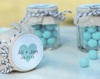 Mini Jam Jars Wedding Favors (Set of 12)