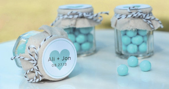 Mini Jam Jars Wedding Favors Set Of 12 By TheLovelyMemories