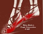 Vintage Bella Ballet Slippers Sandals 651 PDF Digital Crochet Pattern