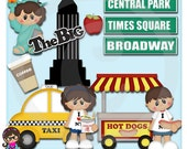 New York City Vacation    Clip art  Clipart Graphics  Commercial Use