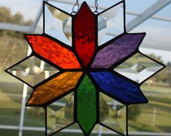 Rainbow Colors with Diamond Bevels