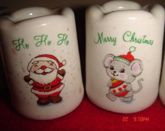 Christmas, Candle holders, beautiful Mini porcelain holders 14 in total