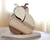 SALE Wooden Stand for wipes - Pear. Hand Carved Wood stand. Carving Handmade Napkin for kitchen.