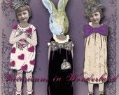 Victorienne in Wonderland - Alice in Wonderland Digital Paper Dolls - Instant Download
