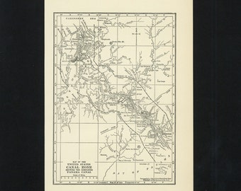 Vintage Map Panama Canal From 1926 Original