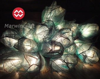 35 turquoise Rose Flower Fairy String Lights Wedding Party Floral Home Decor Floor Table or Hanging Gift Bedroom Living Room 4m