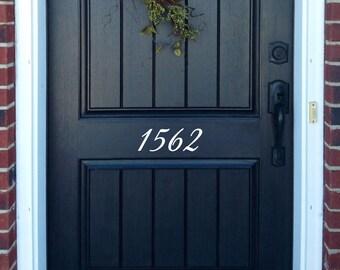 Front Door Numbers Decals Address Stickers Custom Decorative House Number