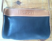 Black Esprit  Faux Pebbled Leather  Crossbody Purse