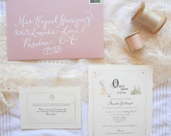 Baby Shower Invitation + Note Card & Envelopes