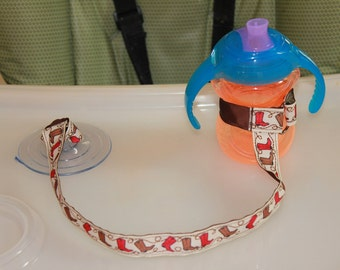 Sippy Cup Leash, Sippy Cup Strap, Baby Bottle Holder, New Baby Gift, Christmas Gift - Cowboy Boots