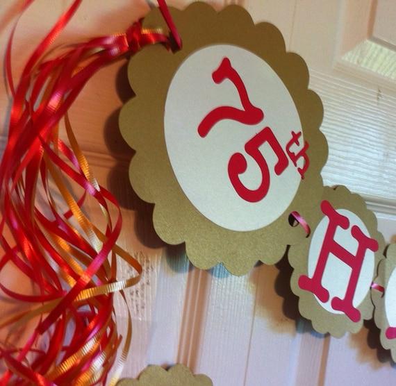 Items similar to 75th birthday decorations personalization for 75th birthday decoration ideas
