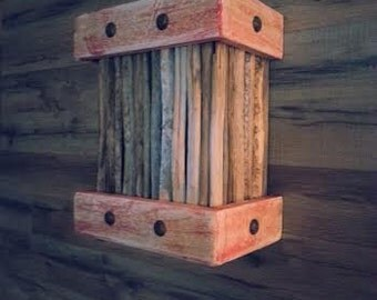 Light Cover - Saguaro Ribs - Pallet Wood - Cloavos