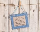 Blue Twinkle – twinkle nursery plaque for baby