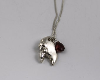 You're my lobster                                                                                 - silver lobster claw necklace
