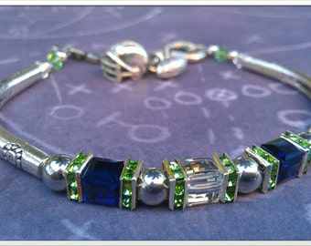 Inspired by the Seattle Seahawks crystal bracelet