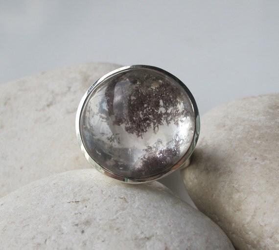 Lodolite ring quartz rings landscape quartz rings garden for Landscaping rocks quartz
