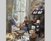 Gifts For Mom Kitchen Art Print Kitchen Nostalgia Mother's Day Art Print Gift for Grandma