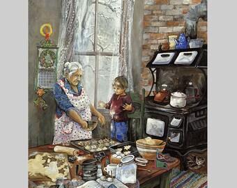 Art Gift For Mom Kitchen Art Print Kitchen Nostalgia Mother's Day Art Print Gift for Grandma