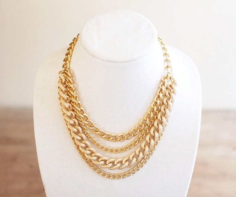 Etsy Chain Necklace Chain Necklace Chunky