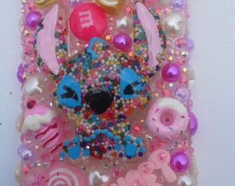 Stitch inspired cell phone case, i-phone 5 case, deco case, kawaii phone case, Stitch inspired