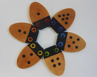Stocking stuffer toy Learning numbers wood game for kids
