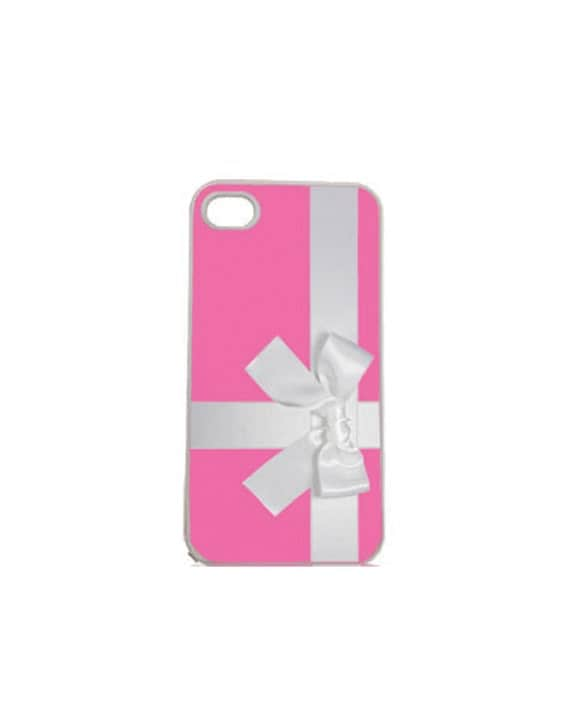 Hot Pink Box with Bow iPhone 4 4s, iPhone 5 5s 5C, iPhone 6 6 Plus, IPOD 5G, Hardshell, Silicone, 2-in-1 Protective Case, hs0151