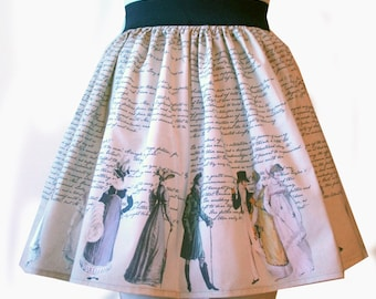 Austen Novel Full Skirt