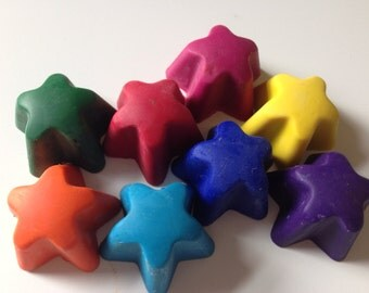 Eco-Friendly Mini Star crayons- Set of 7 in Drawstring Bag