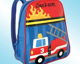 Backpack - Personalized and Embroidered - Go Go Bag - FIRE TRUCK