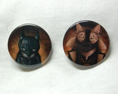 Bat Cat and Bane Kitty Buttons