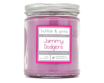 Jammy Dodgers Scented Soy Candle - 8 oz. jar - berries