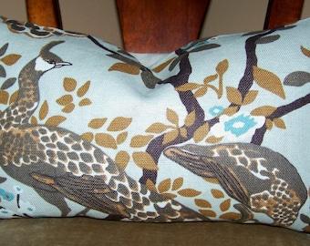 Vintage Plumes Birch - Robert Allen  12 x 20 Decorative Designer Throw Pillow Cover