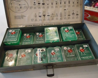 Vintage Metal Box Industrial Fuse Boxes Small Storage Containers Green Fuse Boxes Creed Co Fuse Boxes
