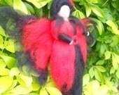 Needle felted Fairy, Waldorf Inspired, Spanish style