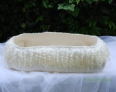 RESERVED!!! Wet felted baby basket,baptism basket,photo studio basket,very large vessel